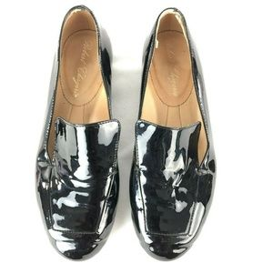 Robert Clergerie Black Patent Leather Loafers 36.5